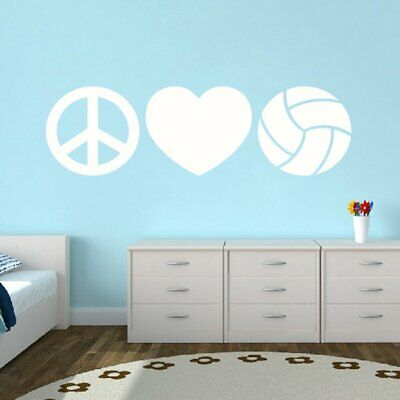 VRS Peace Love Water Polo Volleyball Ball CAR DECAL VINYL STICKER