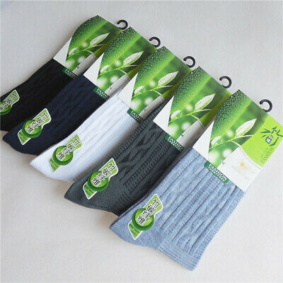 AU 10Pairs Summer Mens Bamboo Fiber Socks Sweat Resistant Natural Comfortable