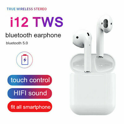 i12 TWS Wireless Bluetooth 5.0 Earbuds Headsets Headphones Earphone Auto Pairing