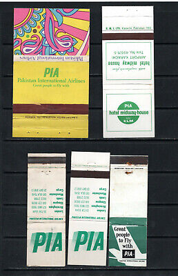 Pakistan International Airlines Matchbook Flats, Lot 2