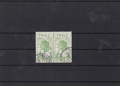 greenland local thule used stamps pair  ref 7333