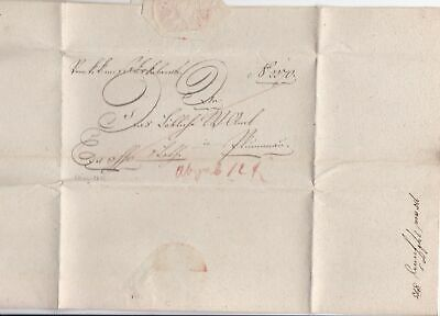 Austrian Kuk 1845 Military Letter Report Stamps Cover ref 22367