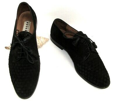 FRATELLI ROSSETTI Shoes derby shoes leather nubuck braided black 39.5