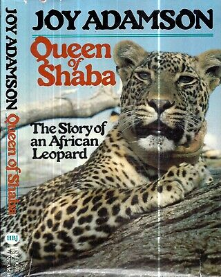 1980 Joy Adamson Leopard Queen Of Shaba African Leopard 1St Us Edition Dj Gift