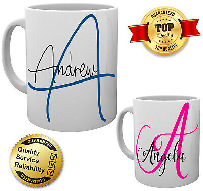 Personalised Tex Name Mugs Mum Dad His Her Mummy Daddy Cup Any Name OR Message