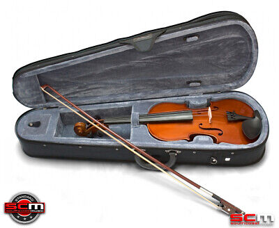 Valencia SV114 4/4 Full Size Violin Outfit with Case, Bow & Rosin STANDARD SETUP