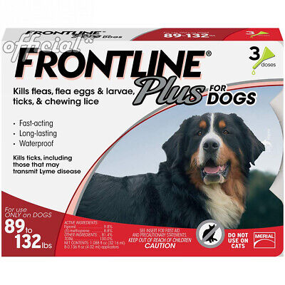 Frontline Plus for Dogs Extra Large Dog (89 to 132 pounds) Flea and Tick...
