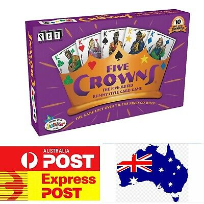 Five Crowns, The Award Winning Family Board Game, Melbourne Stock
