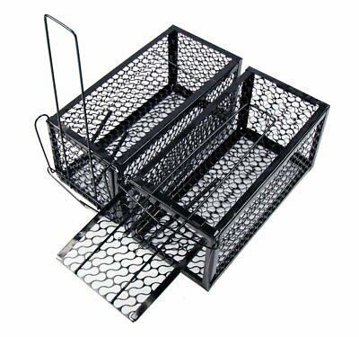 2 X Easy Mice Rat Rodent Cage Trap Indoor Outdoor Live Catcher Pest Control