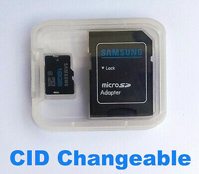 Micro SD Card Samsung 16GB Changeable Editable CID Sat Nav