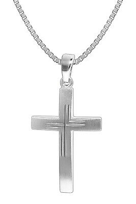 Trendor Jewellery Men's Silver Necklace with Crucifix Pendant