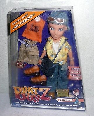 MGA Bratz Boyz CAMERON DOLL With Extra Fashions *Unused NIB 2002