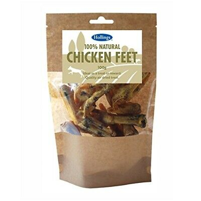 Hollings 100% Natural Chicken Feet For Dogs 100gm