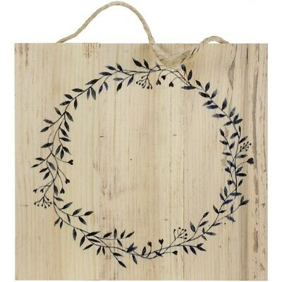 "Wood Pallet Sign W/jute & Wreath Design-10.5""x10"""