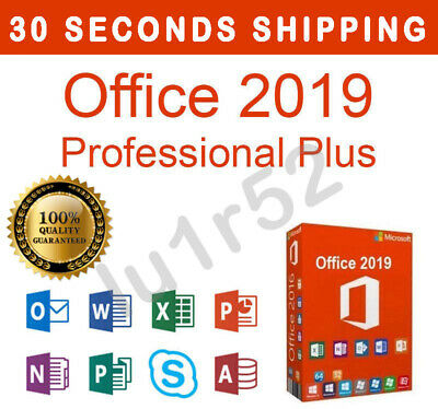 MICROSOFT OFFICE 2019 PROFESSIONAL PLUS PRO 32 - 64 Bit ORIGINAL KEY