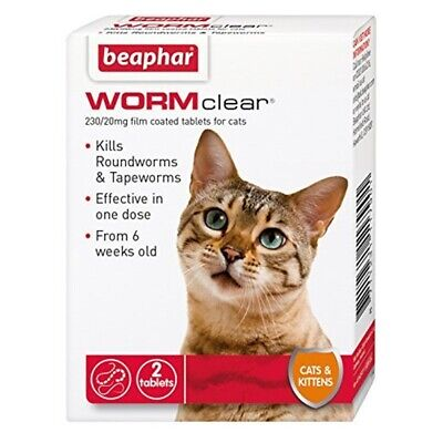 Ver Beaphar Clear Chats Et Chatons 2 Onglet x 1 - Cats Worm Tablets