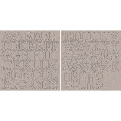 "Kaisercraft Chipboard Alphabet 1.75"" 2/sheets-uppercase Letters & Symbols"