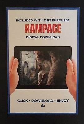 RAMPAGE (2018) SD UV Ultra Violet Code from UK DVD NO DISC
