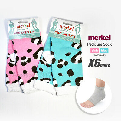 Merkel Pedi-Socks with open Toe for exercise x 6 Pair Variety Color