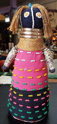Large South Africa Ndebele Fertility Doll, completely hand-made.