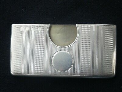 ART DECO ENGLISH HALLMARKED STERLING SILVER CARD CASE, c1925