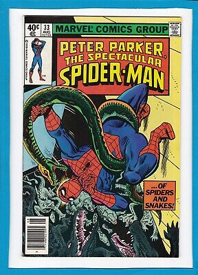 Peter Parker, The Spectacular Spider-Man #33_August 1979_Nm Minus_Bronze Age!