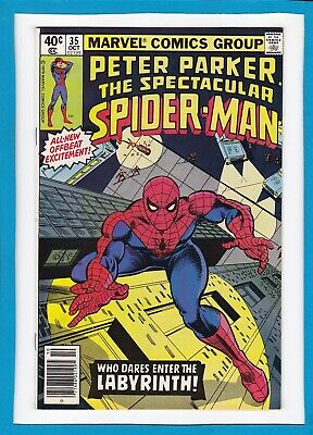 """Peter Parker, The Spectacular Spider-Man #35_Oct 1979_Nm Minus_""""the Labyrinth""""!"""