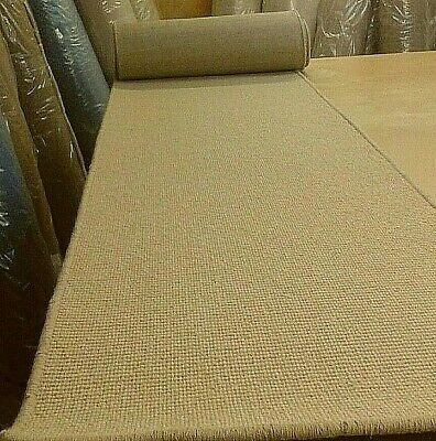 100% WOOL WHIPPED FEATURE STAIR RUNNER 61cm x 8metres BOUCLE LOOP PILE
