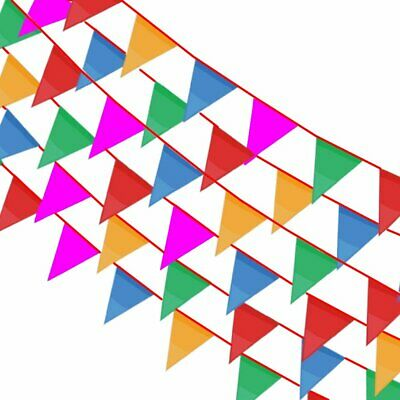 Multi Color Pennant Banners String Flags Xmas Birthday Party Decoration Supplies