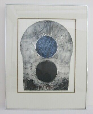 'Trilogy Three' 1970s Abstract Modernist Ltd Ed 2/5 Woodcut Print Signed Porter