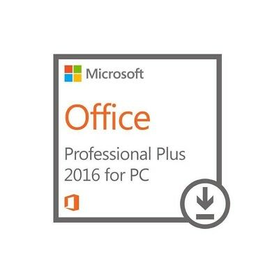 Office 2016 Professional Pro Plus Key Licenza 32/64-Bit Multilanguage Esd