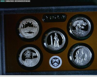 2013-S American the Beautiful National park Proof Quarters no Box or Coa