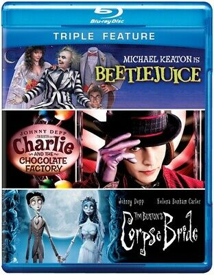 Beetlejuice/Charlie and Chocolate Factory/Tim  (REGION A Blu-ray New) BLU-RAY/WS
