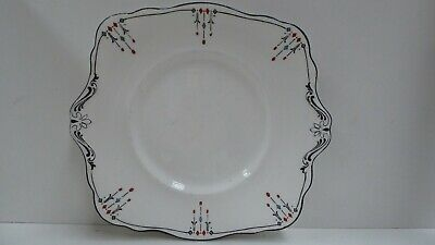 Antique  Atlas Stoke On Trent Art Deco Cake Plate