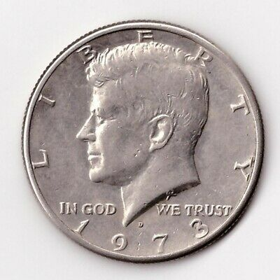 1973 D Kennedy Half Dollar 50 Cent Coin