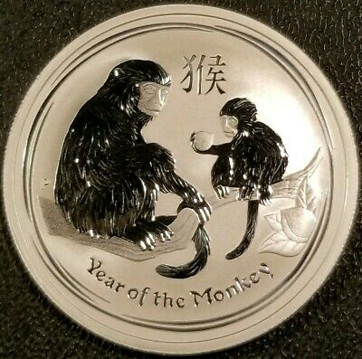 2016 Australia 50c Year of the Monkey 1/2oz .999 Fine Silver Bullion