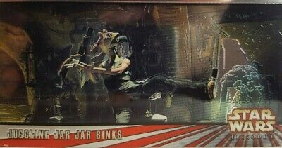 Star Wars Episode I WIDEVISION Chrome Card C5 Juggling Jar Jar Binks TOPPS 1999