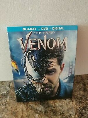 VENOM ( Blu Ray + Dvd + Digital + Slip Cover) FACTORY SEALED