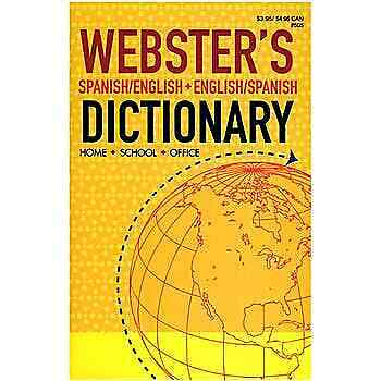 """""""New"""" Webster's English-Spanish Dictionary"""