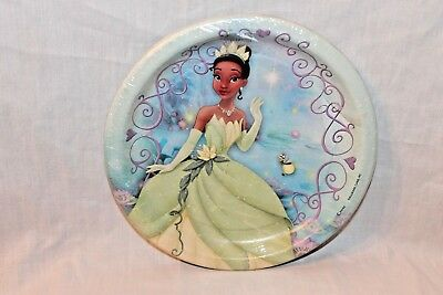 New  In Package The Princess And The Frog 8 Dessert Plates   Party Supplies