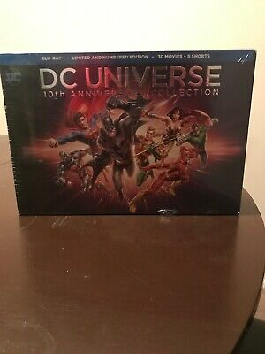 DC Universe 10th Anniversary Collection-Limited Edition (Blu-ray,30 Movies) NEW
