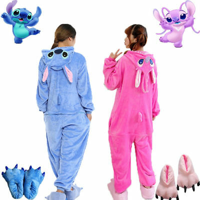 Adulte Unisexe Animal Kigurumi Pyjamas Costume Cosplay Bleu / rose Point ange FR