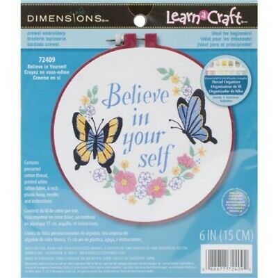 Dimensionen Learn-a-craft -crewel: Glaube An Dich Selbst - Believe Yourself