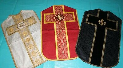 Set: 3 Kaseln Messgewand, Chasuble, Casula, Pianeta