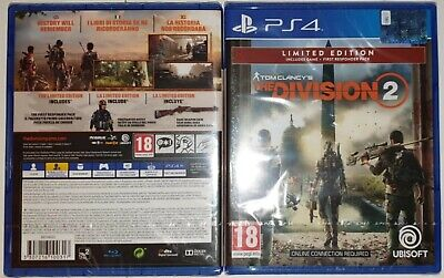 Tom Clancy's The Division 2 Limited Edition Italiana Ps4 Nuovo Sped. Gls 24/48