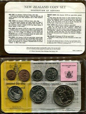 New Zealand: 1977 UNCIRCULATED mint set, Silver Jubilee, Cat US$ 32.50 = A$45