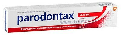 PARODONTAX TOOTHPASTE 75ML CLASSIC or FLUORIDE STOP BLEEDING GUMS!!!