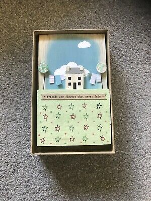 East of India wooden scene message plaque gift keepsake Birthday Favour