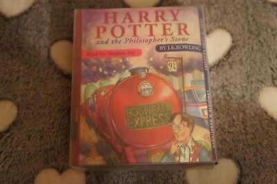 Harry Potter AND THE PHILOSOPHERS STONE 6 Cassettes Audio Read by Stephen FRY