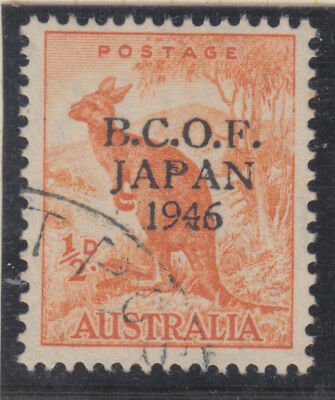 AUSTRALIA 1946 (BCOF) 1/2d Kangaroo (INK VARIETIES ON **P A & 4*FINE USED